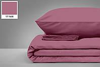 """Турецька сатинова простирадло на гумці з двома наволочками (180*200) клас: Люкс сатин """"Рожевий"""""""