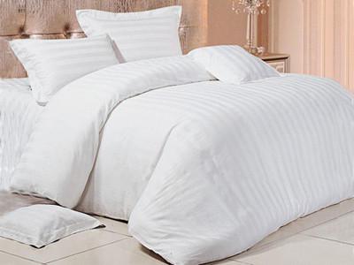 Комплект постельного белья страйп сатин двуспальный