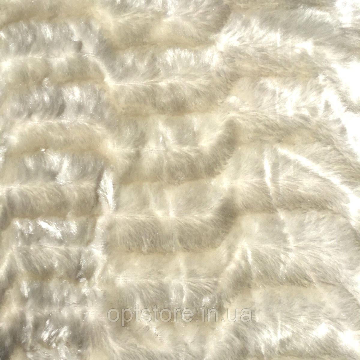 """Плед """"норка"""" молочный евро размер 220/240, микрофибра"""