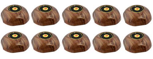 Фото: кнопки виклику офіціанта HCM-350 Wood Bell - 10 штук - комплект системи виклику RECS №116