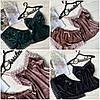 Бархатный набор пижама (майка + шорты), фото 4