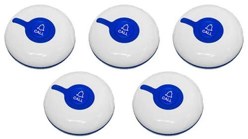 Фото: кнопки вызова персонала RECS R-300 Blue - 5 штук - комплект системы вызова RECS №46
