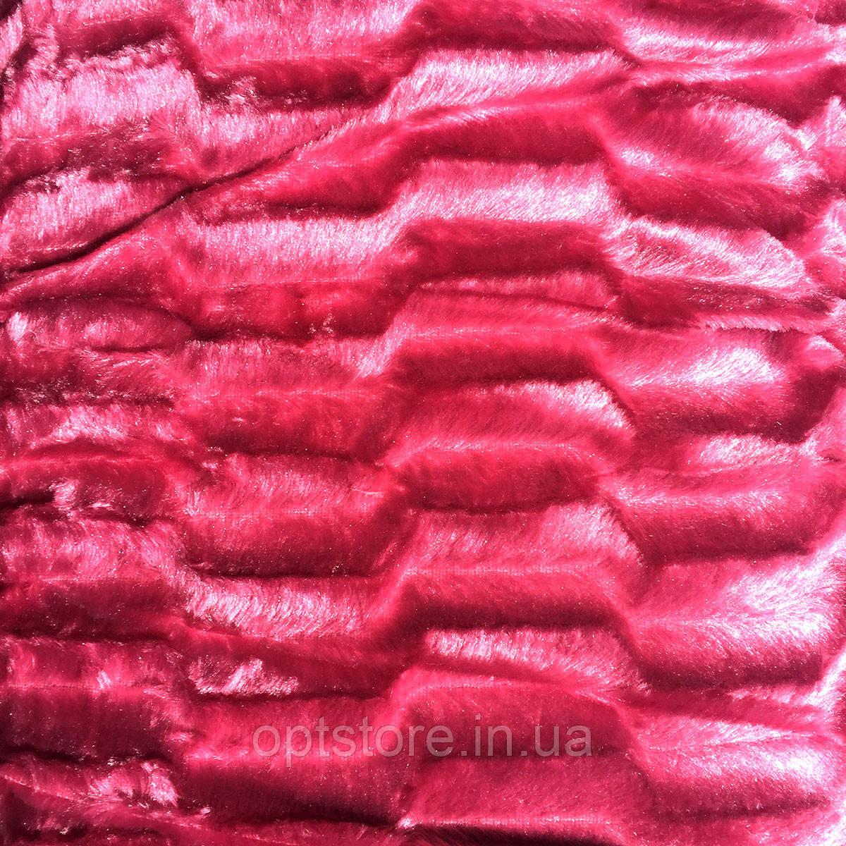 """Плед """"норка"""" рожевий євро розмір 220/240, мікрофібра"""