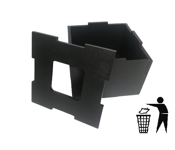 Диспенсер для мусора деревянный (дерево) EcoWood Черный