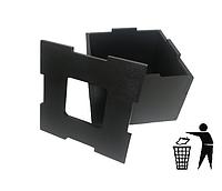 Диспенсер для мусора деревянный (дерево) EcoWood Черный, фото 1