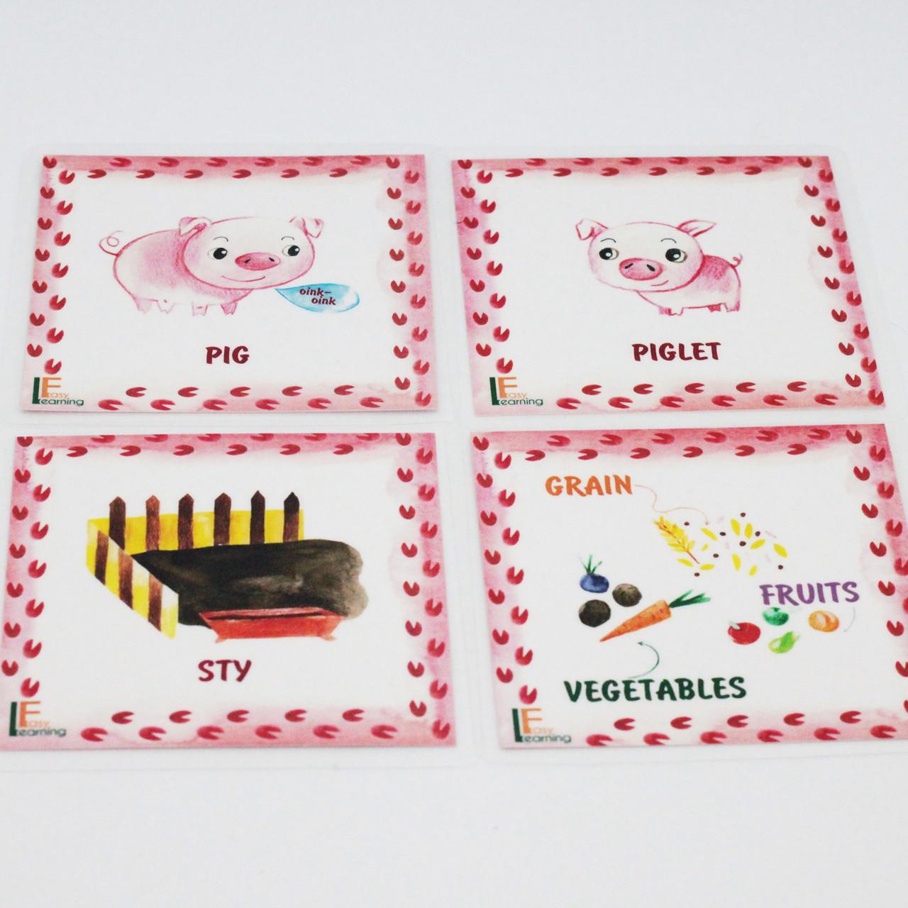 Дитячі англійські карточки з тваринками Farm animals - фото 5