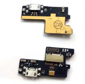 Нижняя плата Lenovo Vibe S1 (S1a40, S1c50) с разьемом зарядки и микрофоном