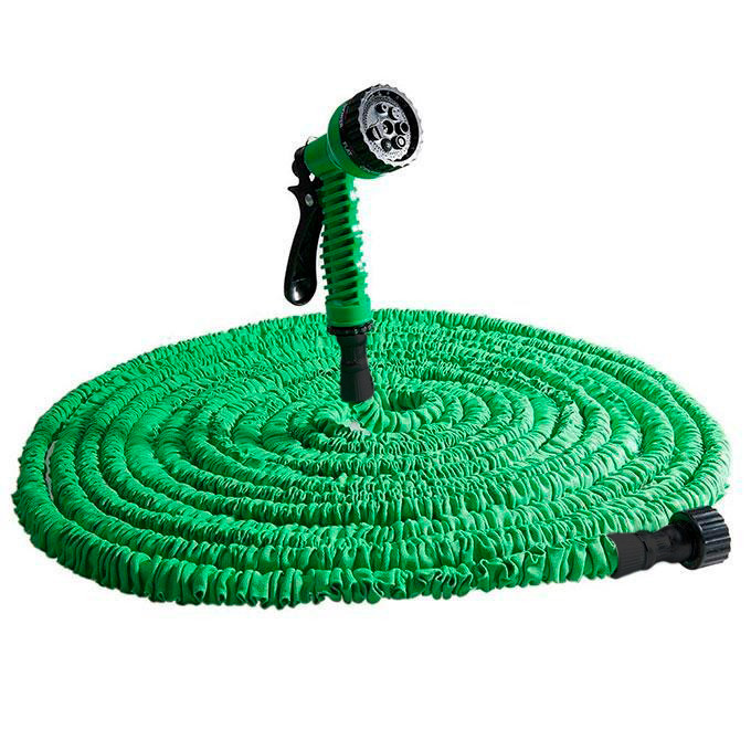Розпродаж! Садовий шланг для поливу розтягується (XHose) 75м Зелений з доставкою по Україні та Києву