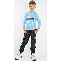 Утепленные Спортивные штаны брюки на мальчика 11,12,13,14 лет Трехнитка С начесом