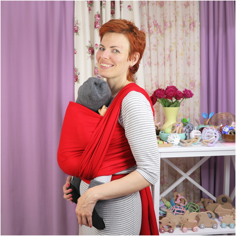 Слинг-шарф NATIBABY Red (4,6 м)
