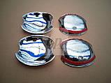 Хром накладки под дверные ручки (мыльницы) (пластик) Mazda 6 I (мазда 6) 2002-2008, фото 5