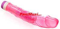 Купить Гелевый Вибратор Классический Розовый длина 23см.