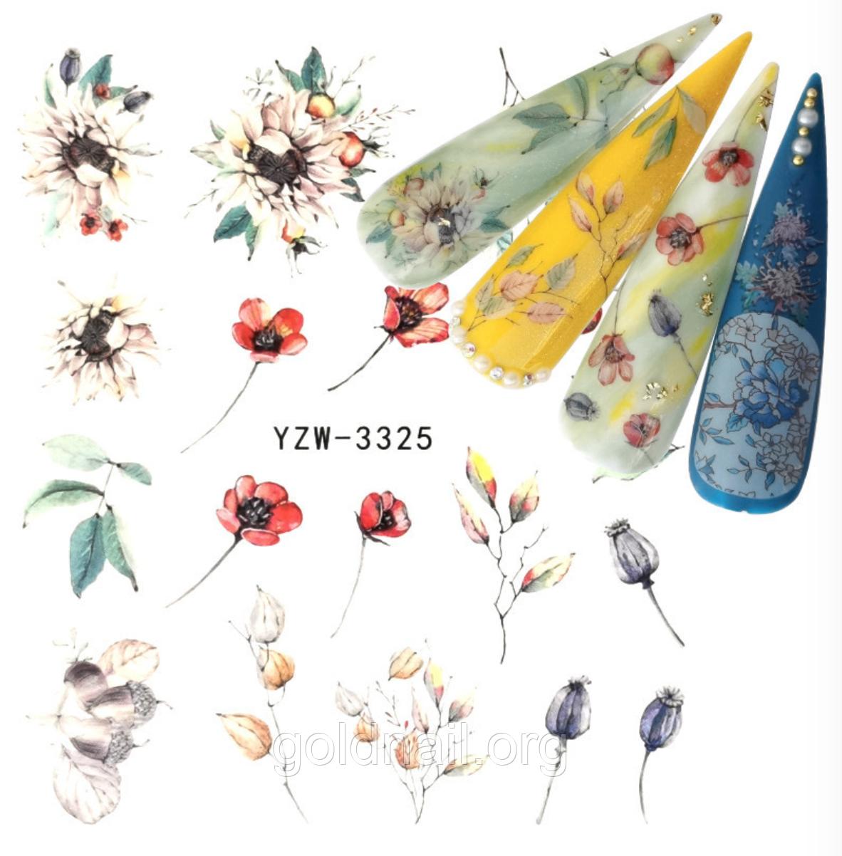 Слайдер дизайн для нігтів водний YZW-3325