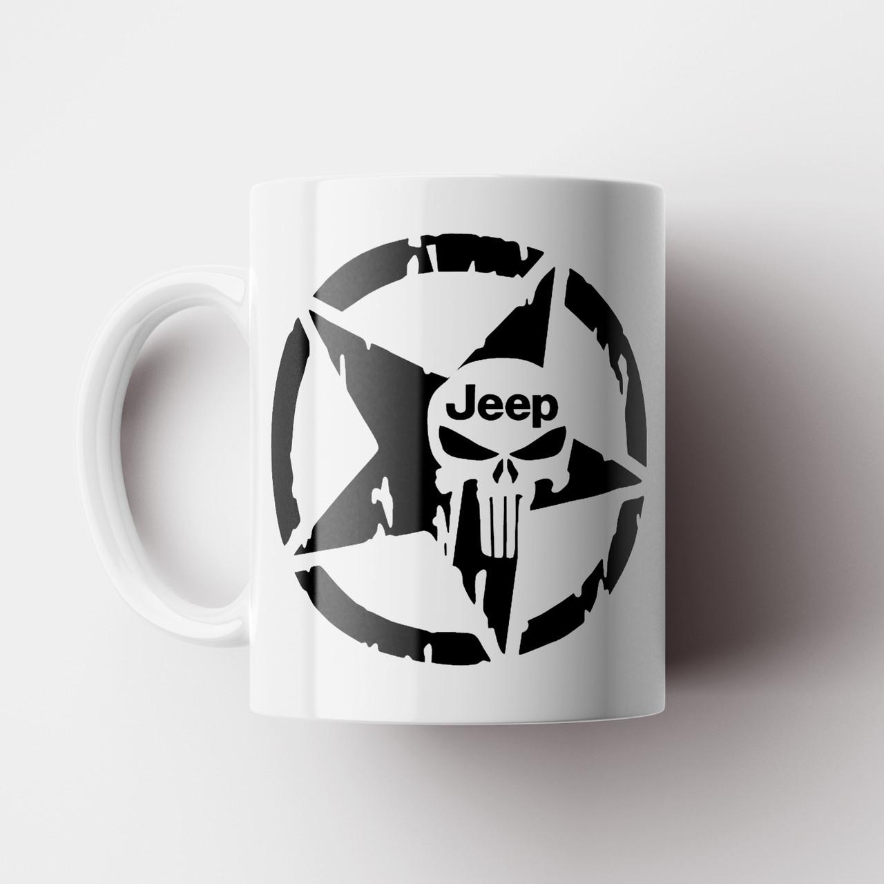 Чашка с принтом Jeep. Кружка с принтом Джип. Чашка с фото