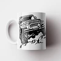 Чашка с принтом Jeep. Кружка с принтом Машина Джип. Чашка с фото, фото 1