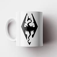 Чашка с принтом Skyrim. The Elder Scrolls V: Skyrim. Кружка с принтом Скайрим, фото 1