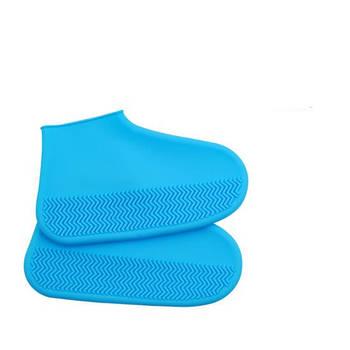 Силіконові чохли для взуття від дощу і бруду Синій