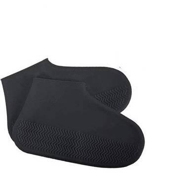 Силіконові чохли для взуття від дощу і бруду Чорний