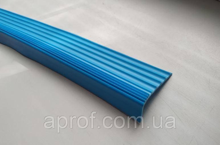 Резиновая антискользящая накладка на ступени (Голубая)