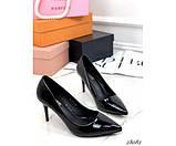 Туфли лакированные на каблуке, фото 4