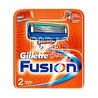 Сменные кассеты для бритья Gillette Fusion 2 шт