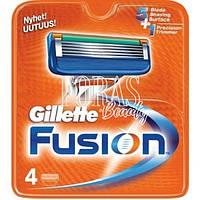 Сменные кассеты для бритья Gillette Fusion 4 шт