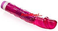 Купить Гелевый Вибратор Классический Пурпурный длина 23см.