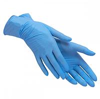 Перчатки нитриловые 100 штук в упаковке синие/голубые большого размера XL