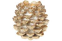 Декоративный подсвечник на одну свечу Шишка, ( цвет - золото)