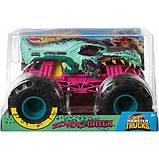 Hot Wheels Monster Jam Внедорожник джип зомби Рекс 1:24 Scale GCX24 Zombie Wrex Trucks Vehicle, фото 2