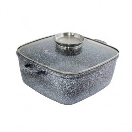 Казан со стеклянной крышкой Unique UN-5206 4.3 л 24 см, фото 2