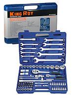 Набор инструментов 82 предмета, 1/4-1/2 дюйма, 6 граней, 4-32 мм, King Roy 30159-082