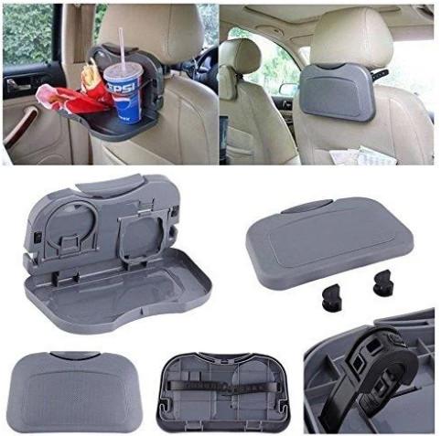 Автомобильный  откидной столик на сиденье авто серый