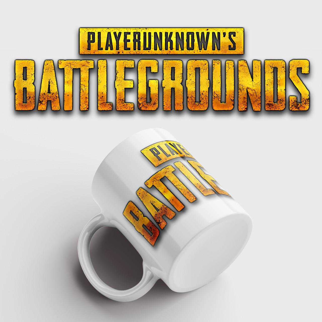 Кружка с принтом PUBG. PlayerUnknown's Battlegrounds. Чашка с фото