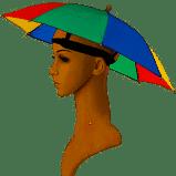 Парасолька-шапка від сонця і дощу