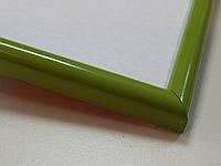 Рамка А4 (210х297).Рамка пластиковая 14 мм.Зеленый .
