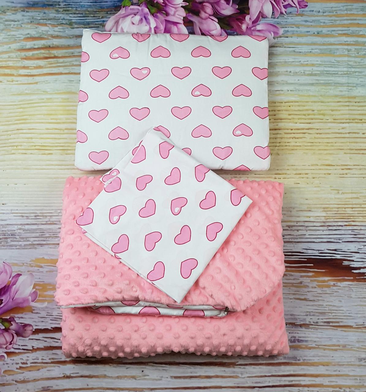 Комплект для новорожденных в коляску 3 предмета: Одеяло, Подушка, Простынка