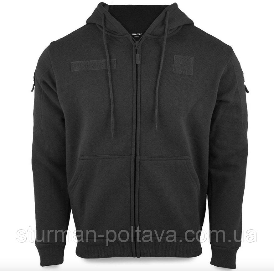 Толстовка  мужская  тактическая с капюшоном TACTICAL KAPUZENJACKE DARK Mil-Tec цвет   черный  Германия