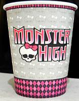 """Стаканчики одноразовые бумажные детские """"Monster High"""""""