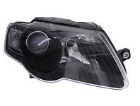 Фара правая VW Passat B6 05-10 черн. рамка DEPO 1EL247014-021