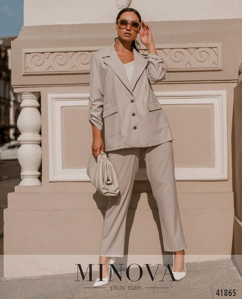 Жіночий костюм-двійка мерехтливої кольору великого розміру від 50 до 64