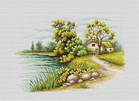 """Набор для вышивки крестом """"Luka-s"""" B2283 Пейзаж с озером"""