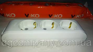 Колодка Viko multilet на 3 гнізда з заземленням
