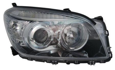 Фара левая Toyota Rav 4 06-10 эл.рег, черн. рамка TYC 8117042360