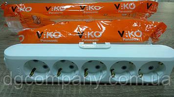 Колодка Viko multilet на 5 гнізд з заземленням