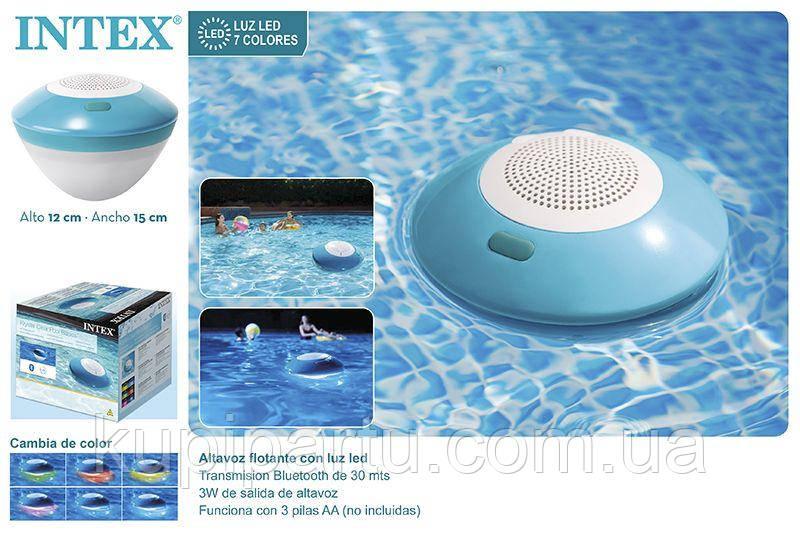 Плаваюча безпровідна колонка з LED-підсвічуванням Intex 28625