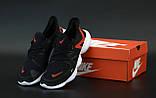 Кроссовки мужские Nike Free Run в стиле найк Фри Ран ЧЕРНЫЕ КРАСНЫЕ (Реплика ААА+), фото 2