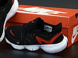 Кроссовки мужские Nike Free Run в стиле найк Фри Ран ЧЕРНЫЕ КРАСНЫЕ (Реплика ААА+), фото 6