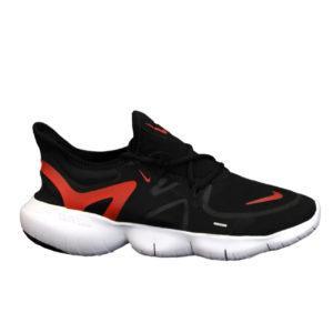 Кроссовки мужские Nike Free Run в стиле найк Фри Ран ЧЕРНЫЕ КРАСНЫЕ (Реплика ААА+)