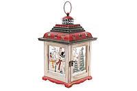 Декоративный фонарь подсвечник, 35см, цвет - бежевый